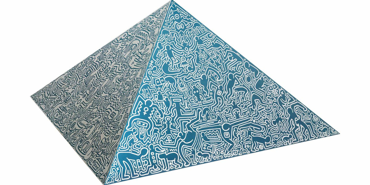Keith Haring - Pyramid Sculpture, 1989 (Detail)