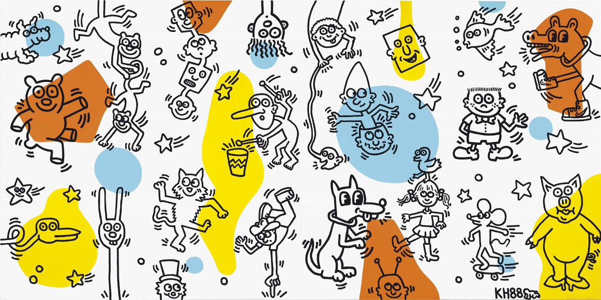 Keith Haring - Untitled, 1988 (detail)