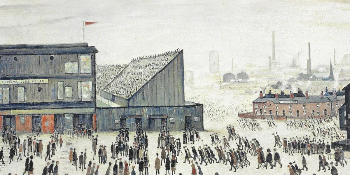 Laurence Stephen Lowry - Going to The Match (Detail), 1972