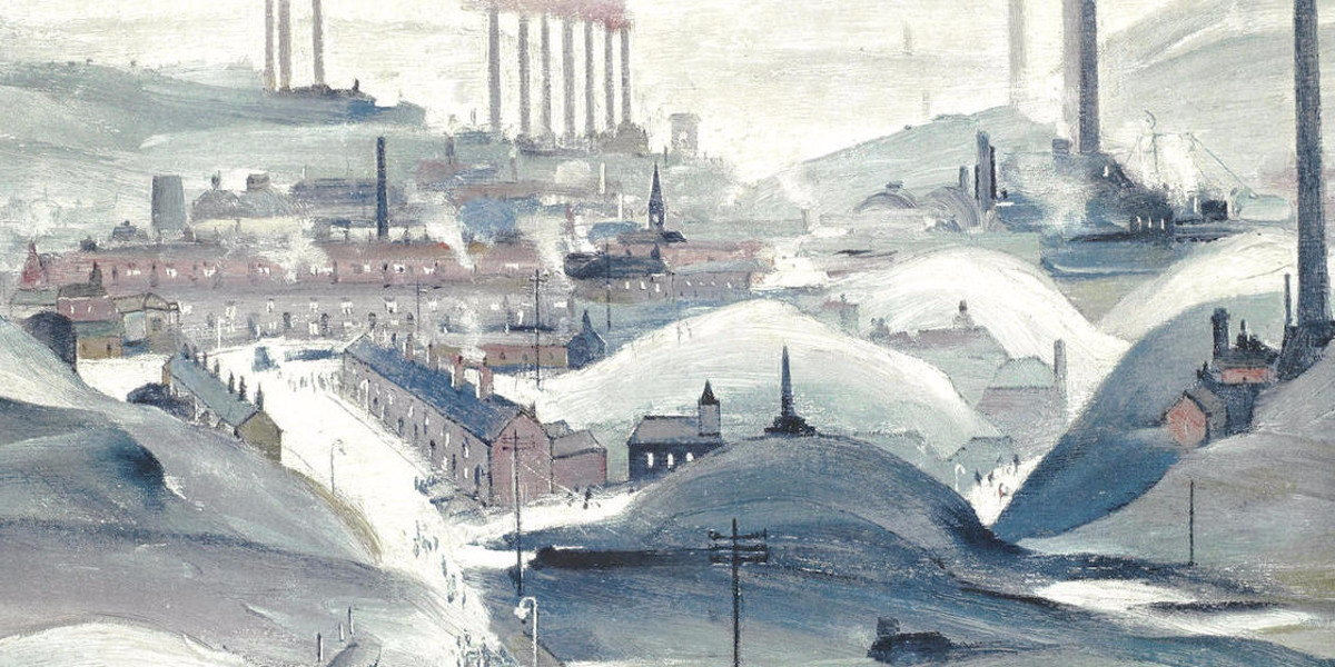Laurence Stephen Lowry - Industrial Panorama (Detail)