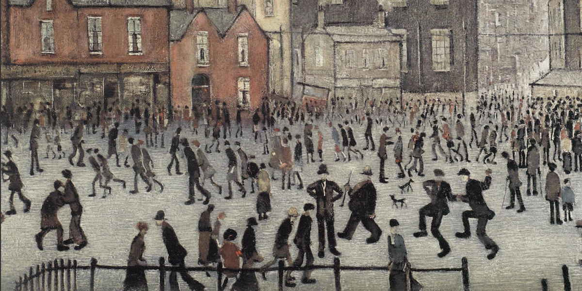 Laurence Stephen Lowry - Our Town (Detail)