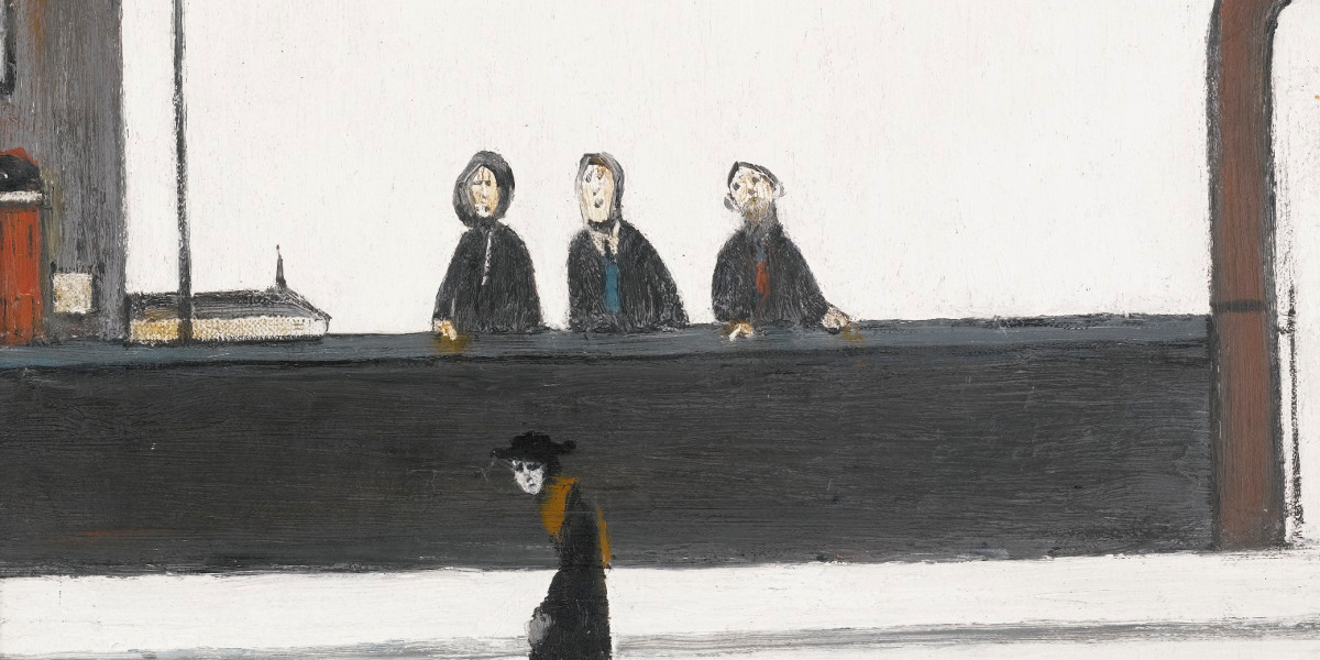 Laurence Stephen Lowry - The Lookers On, 1965 (detail)