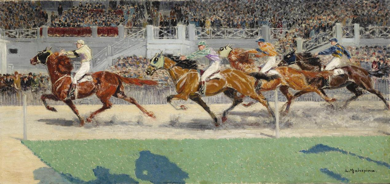 Louis-Ferdinand Malespina - Prix Du President, Vincennes, 1928, Gagnant Cyclone A.M. Dupuis (Detail)