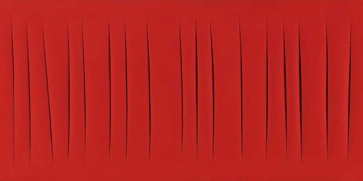 Lucio Fontana - Concetto Spaziale, Attese (Detail)