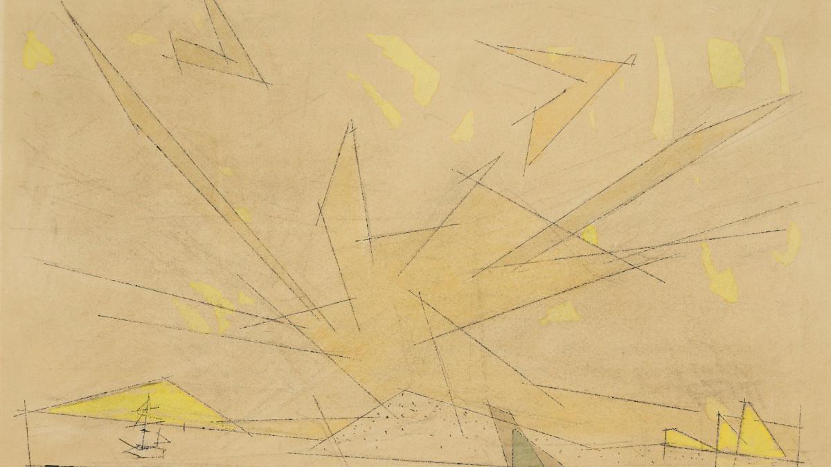 Lyonel Feininger - At Sea, 1950 (detail)