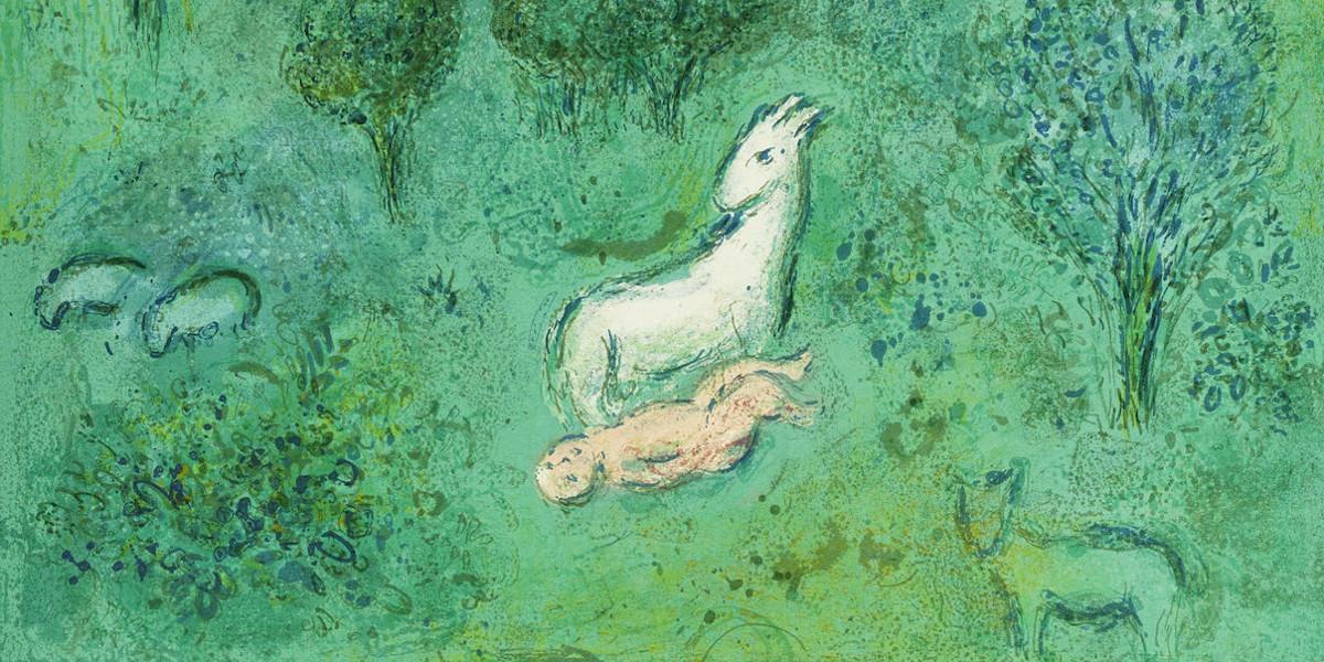 Marc Chagall - Daphnis et Chloe (M. 308-349; C. bk. 46), 1961 (details)