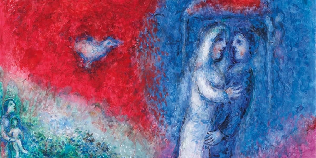 Marc Chagall - Les Maries (detail)