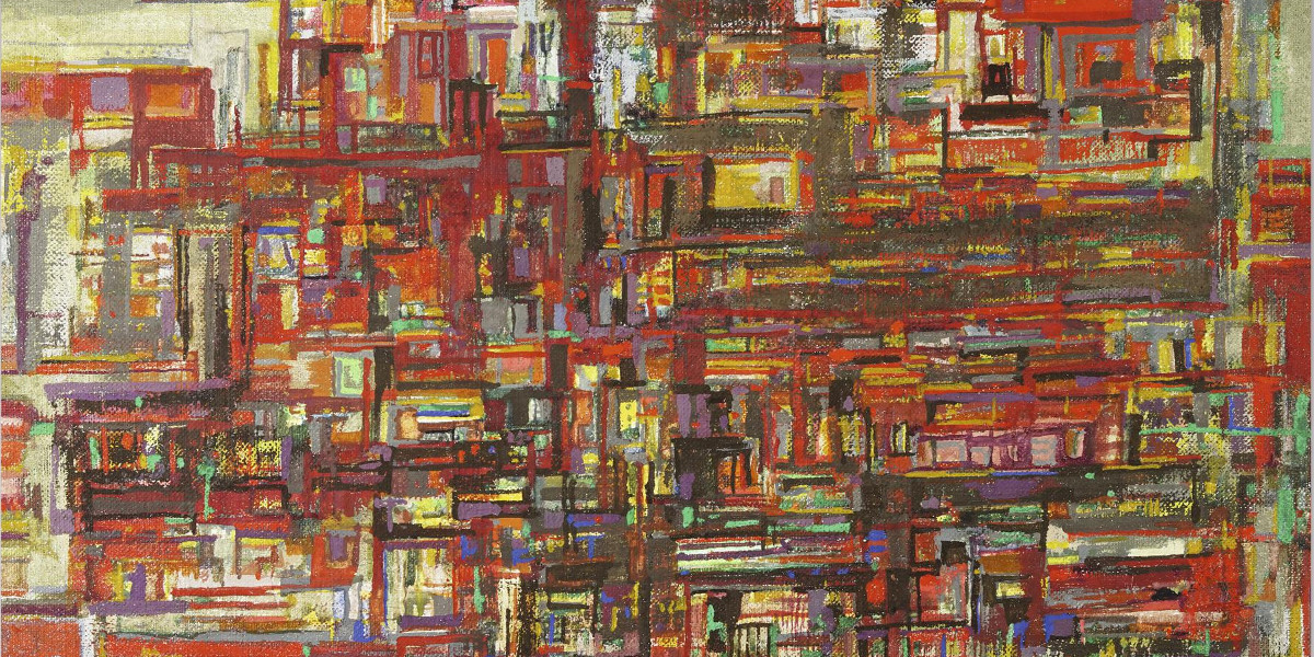 Maria Helena Vieira da Silva - Red Houses, 1963 (Detail)