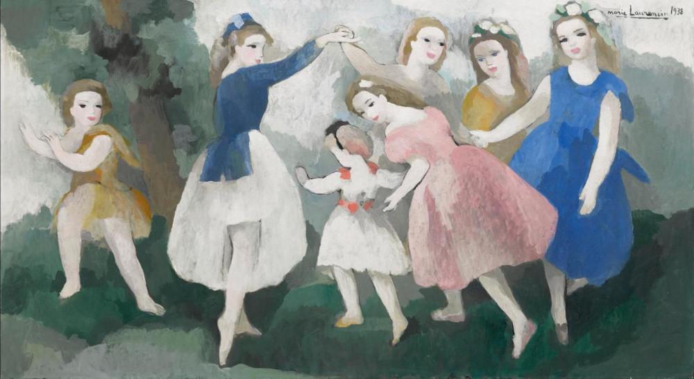 Marie Laurencin - Jeunes Filles Aux Jeux, 1938 (Detail)