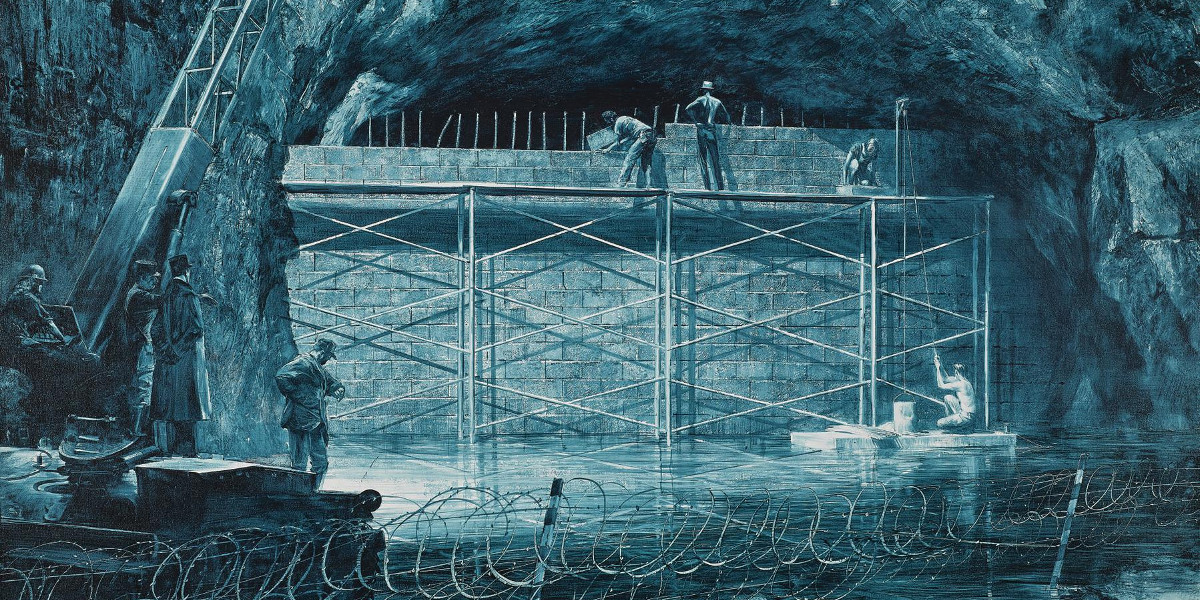 Mark Tansey - Source Of The Loue, 1988 (Detail)