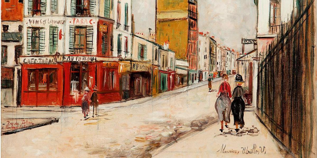 Maurice Utrillo - Rue Du Poteau