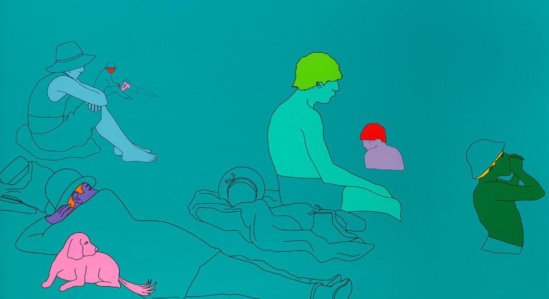 Michael Craig-Martin - Deconstructing Seurat (Turquoise Green), 2004 (Detail)