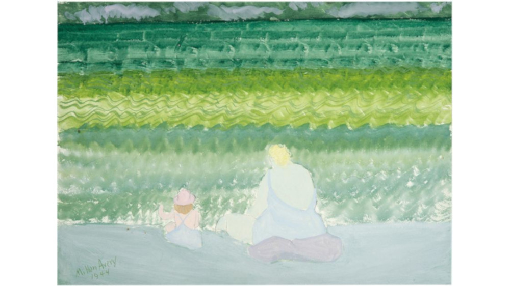 Milton-Avery-Mother-And-Child-By-The-Sea-1944-Detail2
