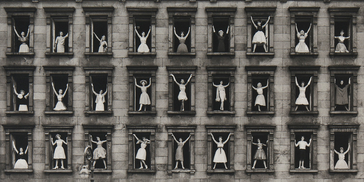 Ormond Gigli - New York City (Girls In The Windows), 1960 (detail)
