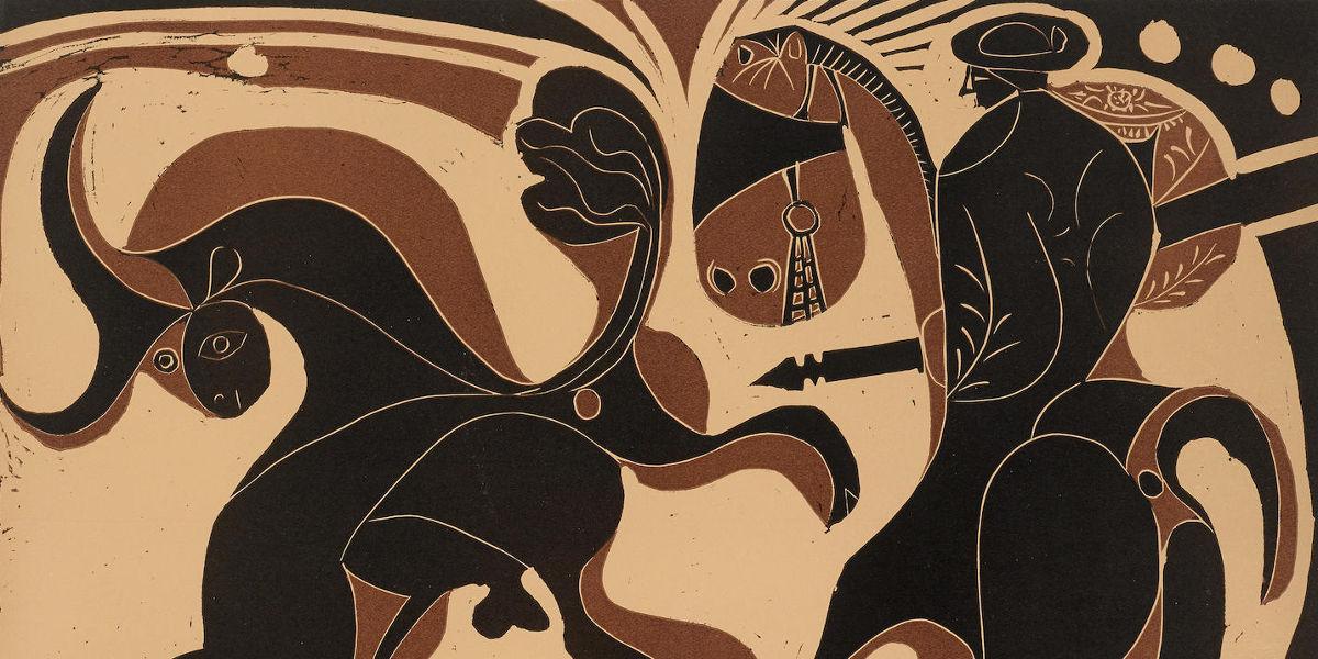 Pablo Picasso - Apres la Pique (detail), 1959