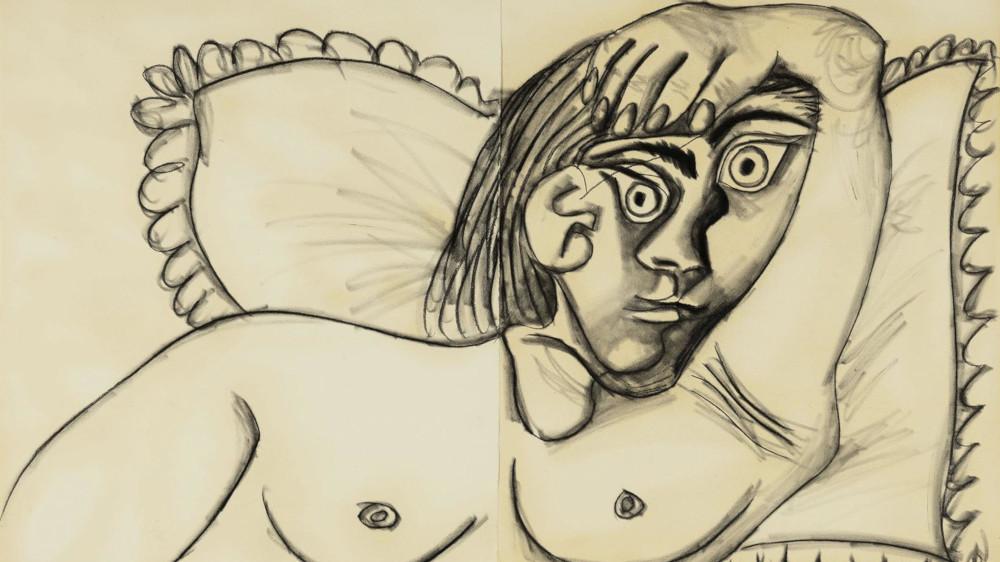 Pablo Picasso - Buste De Femme Couchee, 1969 (Detail)
