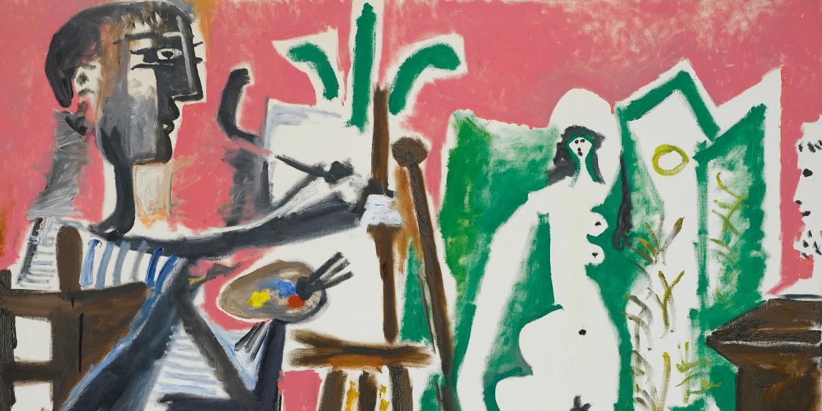 Pablo Picasso - Le Peintre Et Son Modele, Painted on March 26, 1963 (detail)