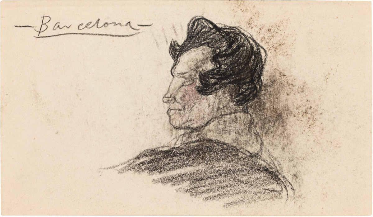Pablo Picasso - Tete D'Homme, Profil, 1901 (detail)