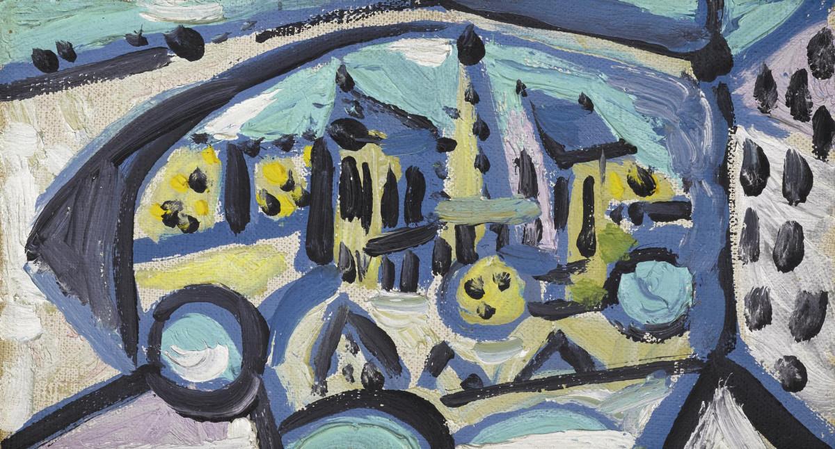 Pablo Picasso - Vue De Notre-Dame De Paris, 1945 (Detail)