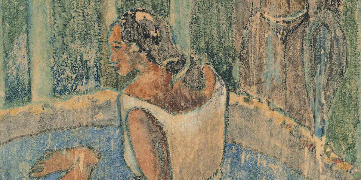 Paul Gauguin -Arearea No Varua Ino (Words of The Devil) (Detail), 1894