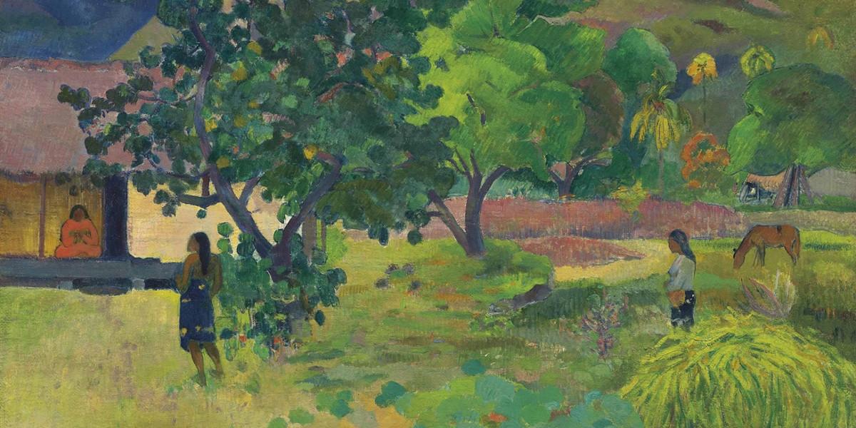 Paul Gauguin - Te Fare (La maison), 1892 (detail)