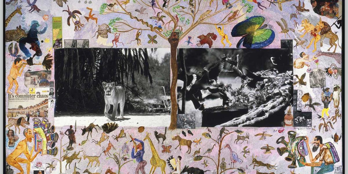 Peter Beard - Lioness And Birds, 1984 (Detail)