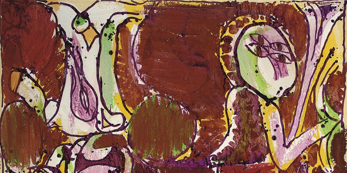 Pierre-Alechinsky-En-Bandouliere-Detail-1972