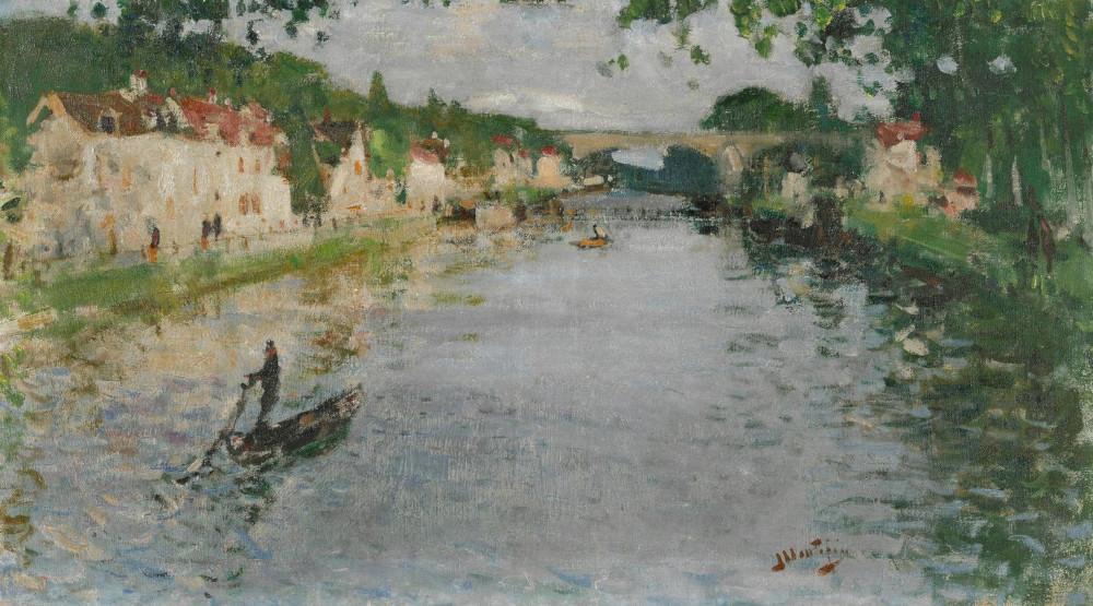 Pierre Eugene Montezin - Scene De Bateau, 1945 (Detail)