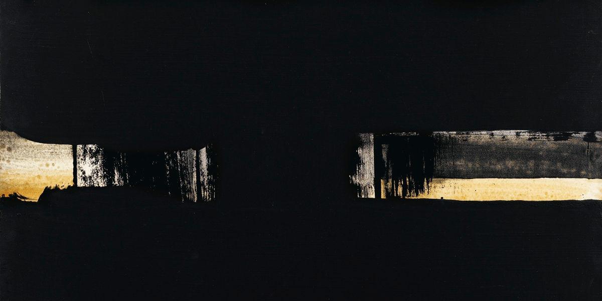 Pierre Soulages - Gouache 65 x 50 cm (detail), 1973