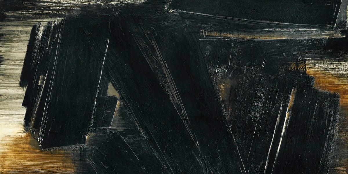 Pierre Soulages - Peinture 195 x 130 cm 7 Mars 1958 (detail)