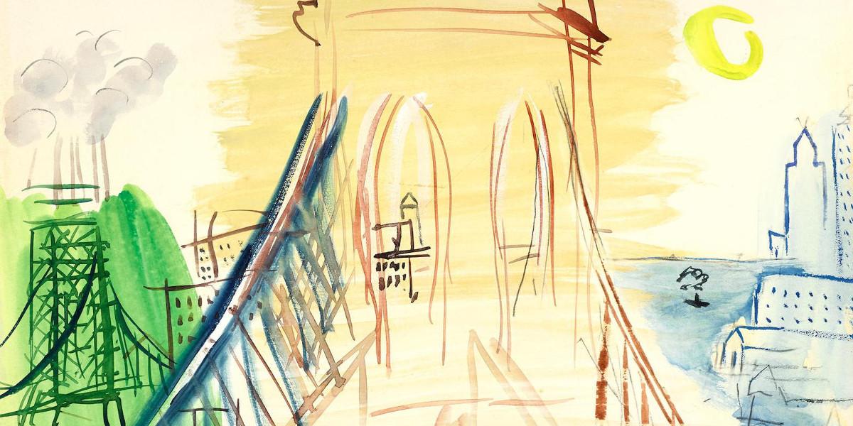 Raoul Dufy - Le Pont De Brooklyn, 1944-46 (Detail)