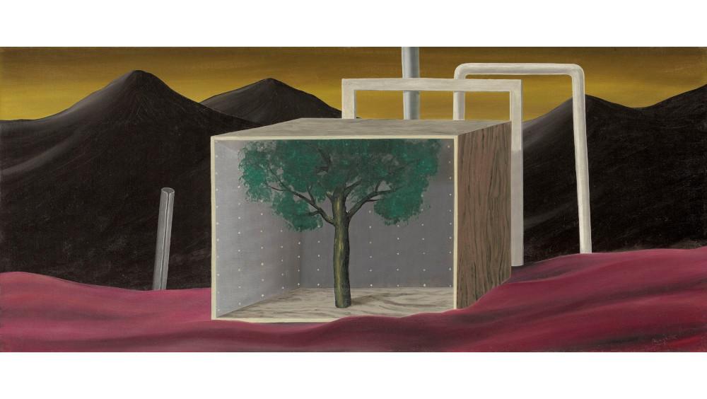 Rene Magritte - Le Parc Du Vautour, 1926 (Detail)