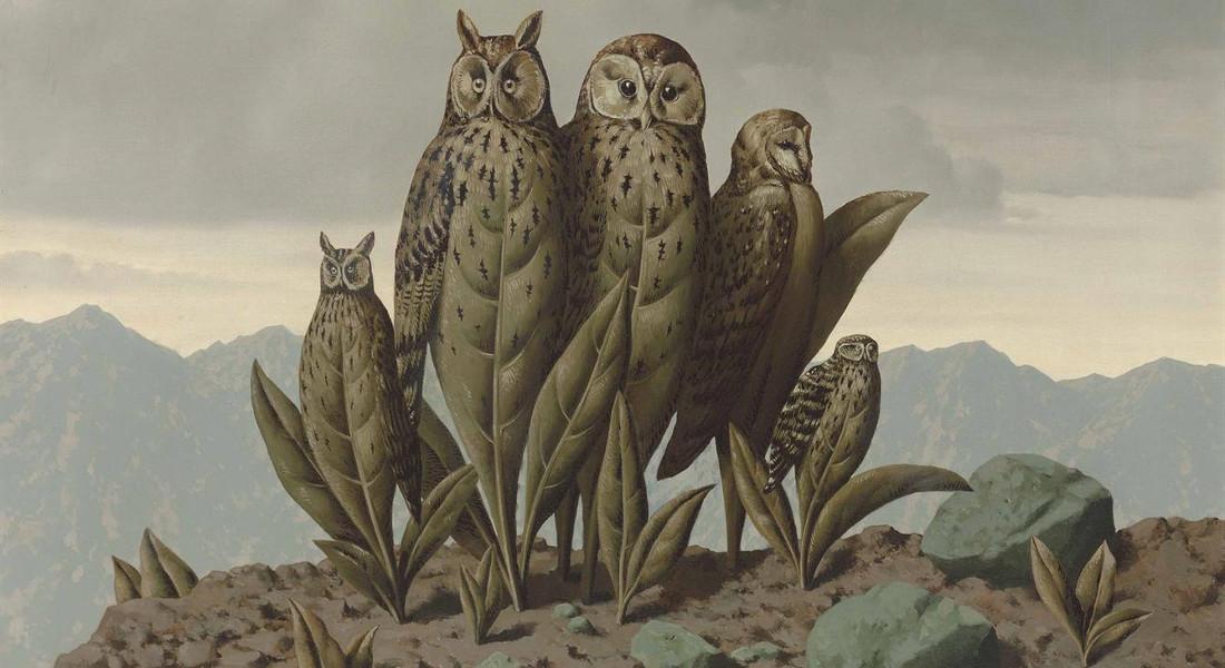 Rene Margitte - Les Compagnons De La Peur, 1942 (Detail)