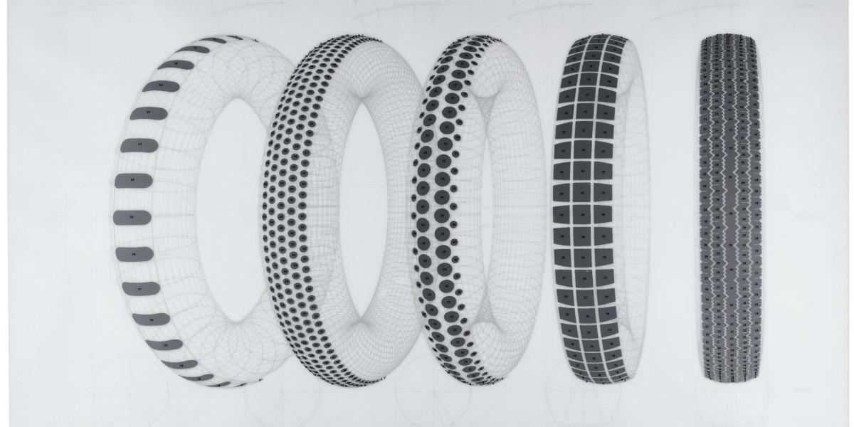 Richard Hamilton - Five Tyres Remoulded (L. 79), 1971 (Detail)