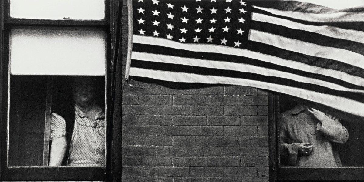 Robert Frank - Hoboken (Parade) Detail, 1955
