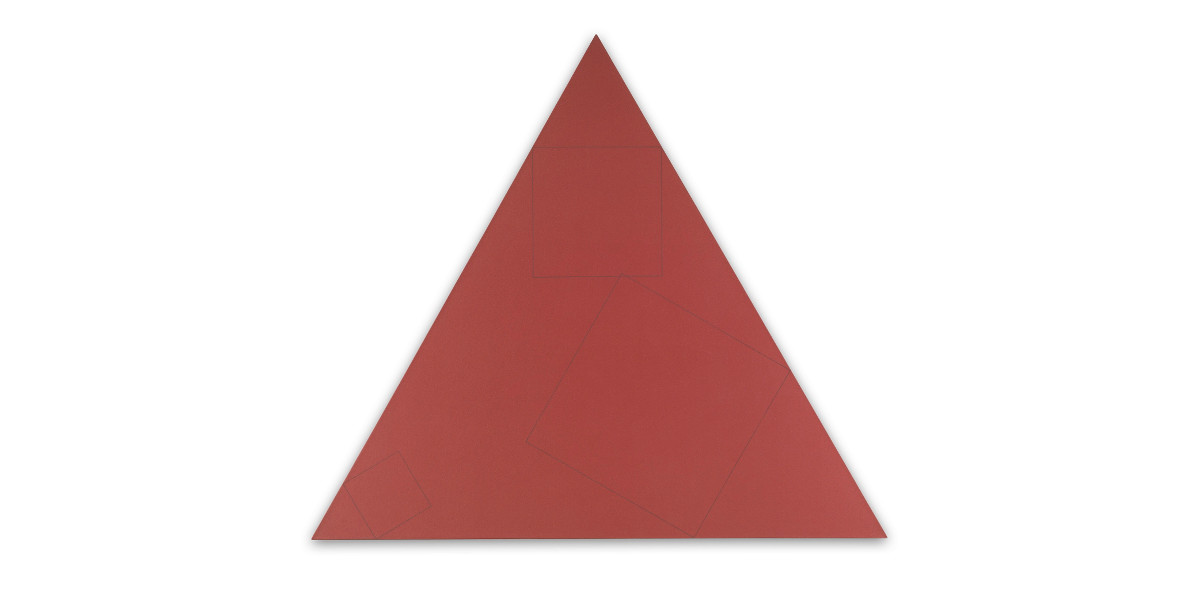 Robert Mangold - THREE SQUARES WITHIN A TRIANGLE, 1975-76