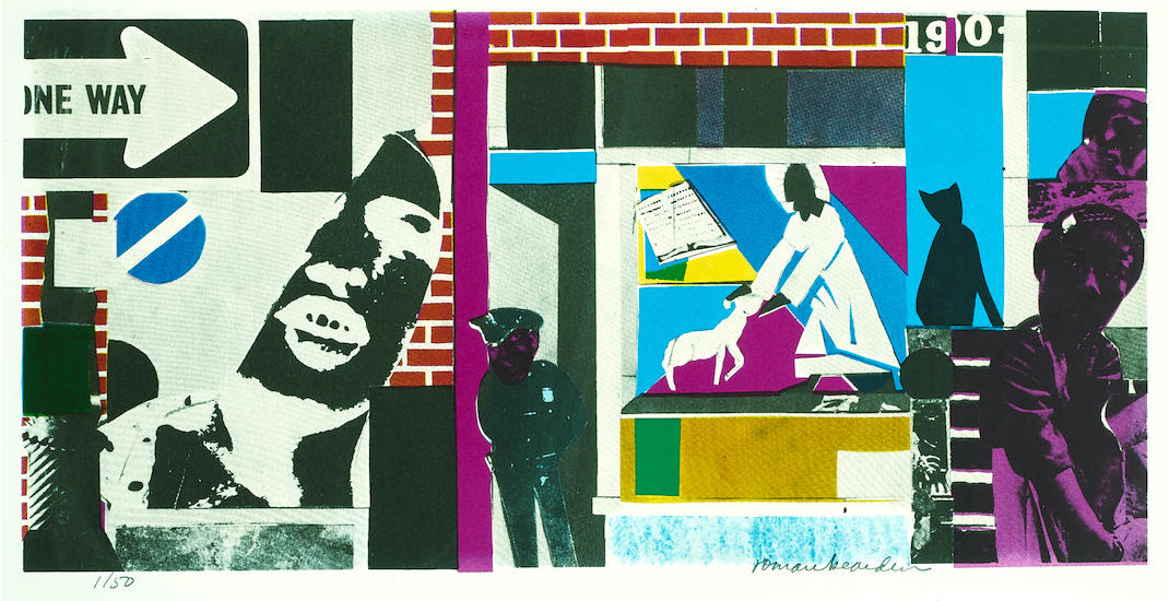 Romare Bearden - Untitled (Street Scene), c. 1985 (detail)
