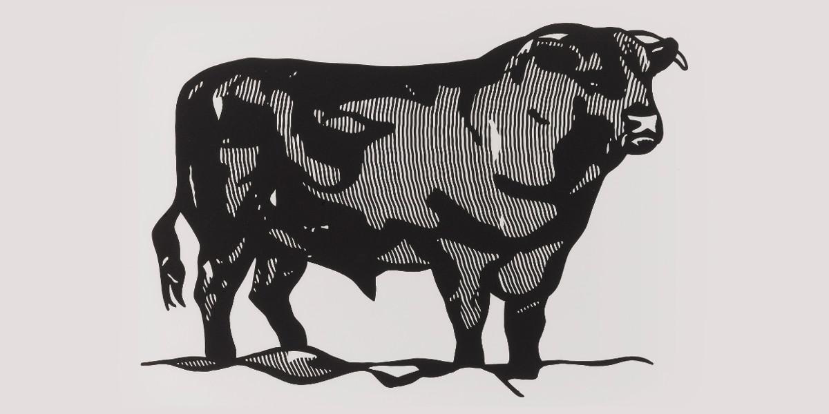 Roy Lichtenstein - Bull Profile (C. 116-121), 1973