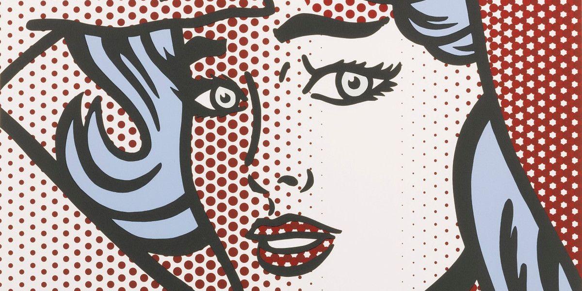 Roy Lichtenstein - Nude with blue hair (Detail)