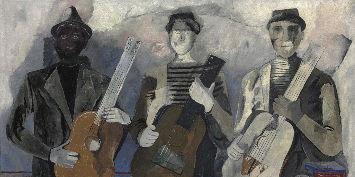 Rufino Tamayo - Musicos (Also Known As Trovadores), 1934 (detail)