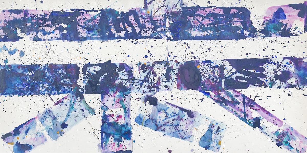 Sam Francis - Untitled (SF77-121), 1977 (detail)