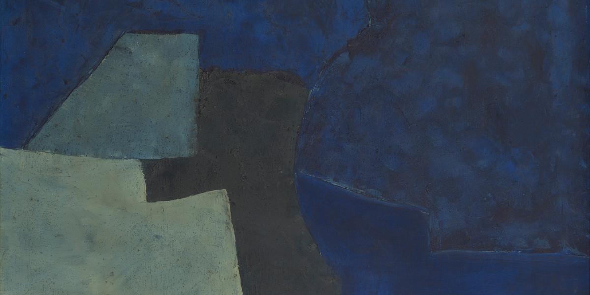 Serge Poliakoff - Bleu, 1952 (detail)