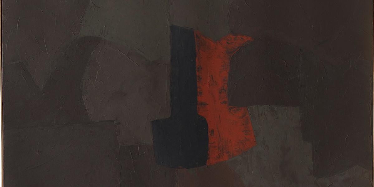Serge Poliakoff - Gris Brun Noir Rouge, 1956 (Detail)