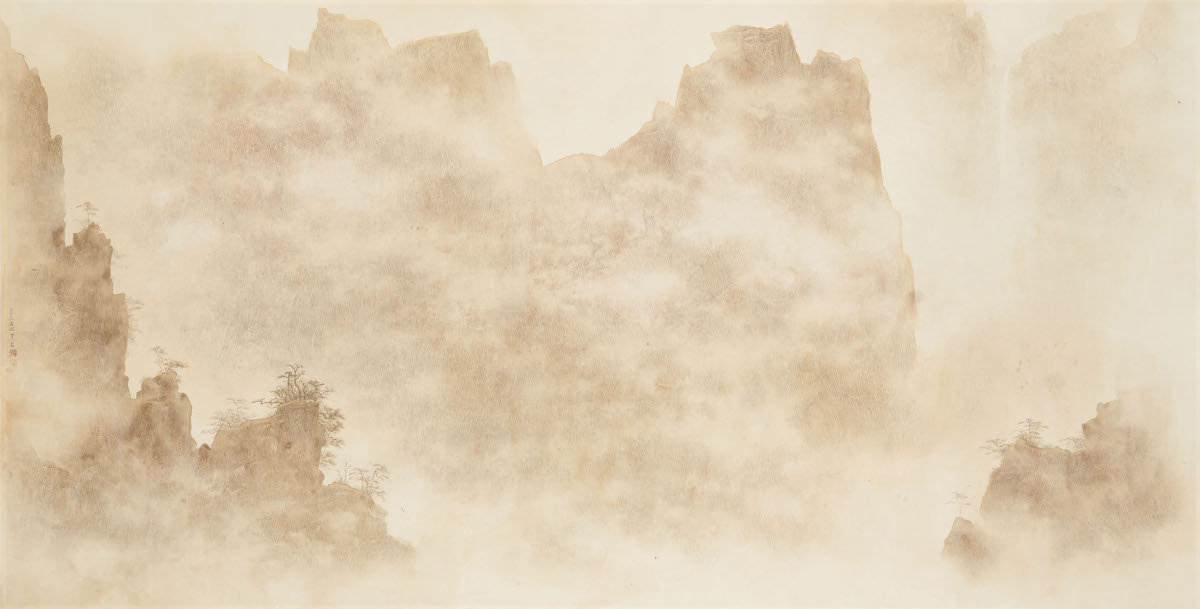 Su Chung Ming - Misty Mount Huang, 2018 (detail)