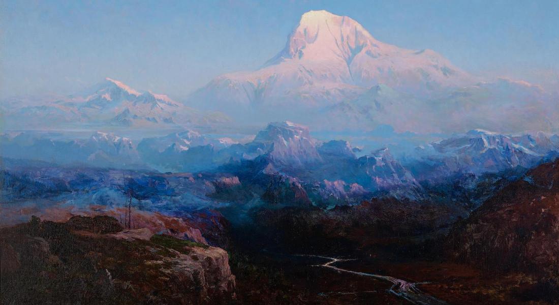 Sydney Laurence - Mount Mckinley, 63 North Latitude, Alaska, Altitude 20.390 Feet, circa 1911-12 (Detail)