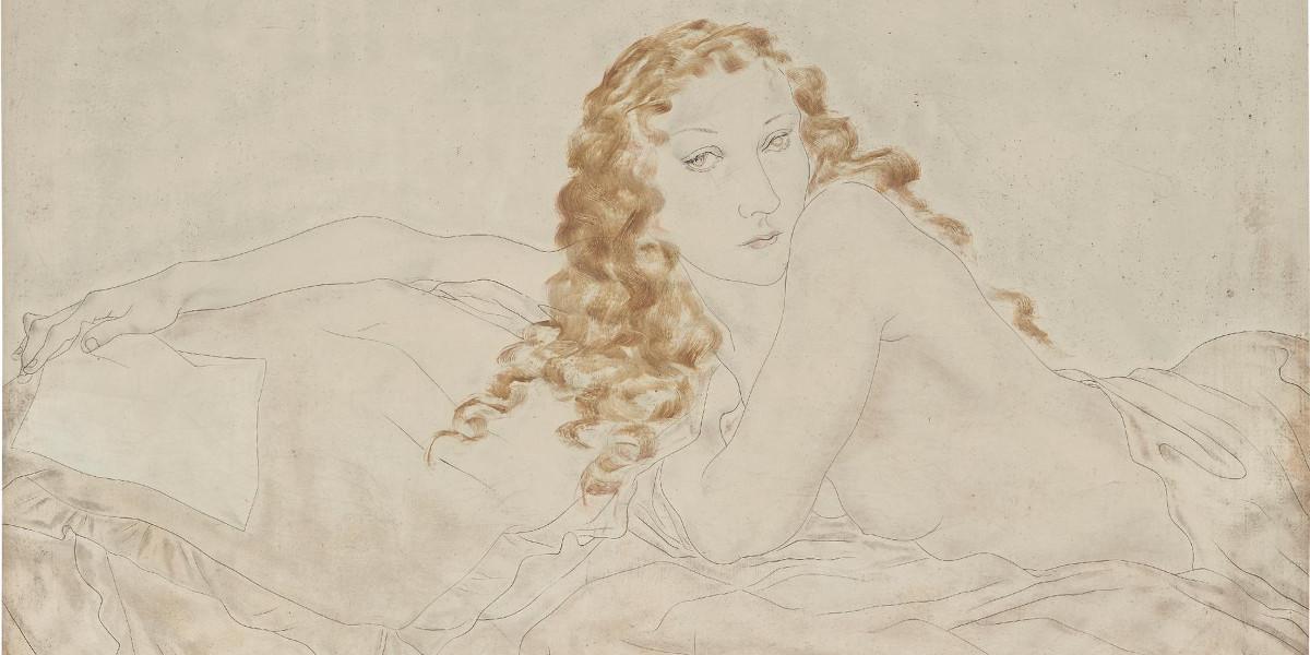 Tsuguharu Foujita - Reclining Nude, 1931 (Detail)