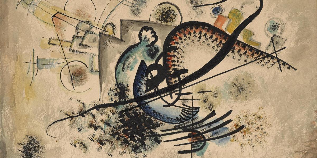 Wassily Kandinsky - Die Schwarze Linie (The Black Line), 1922 (Detail)