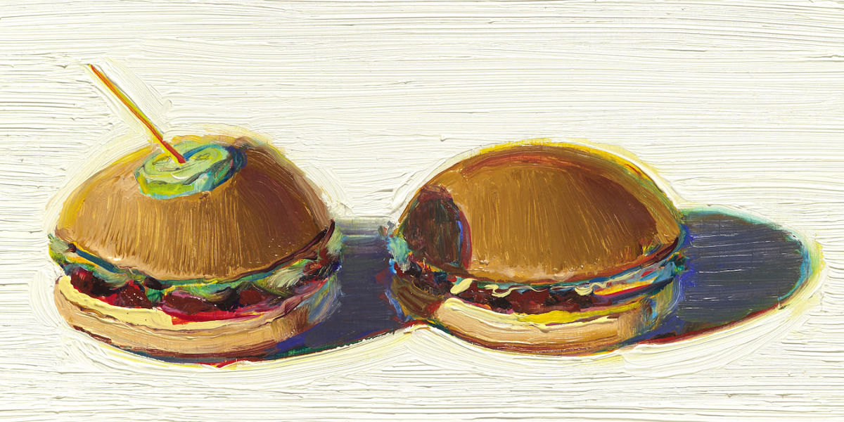 Wayne Thiebaud - Two Hamburgers (Detail), 2000