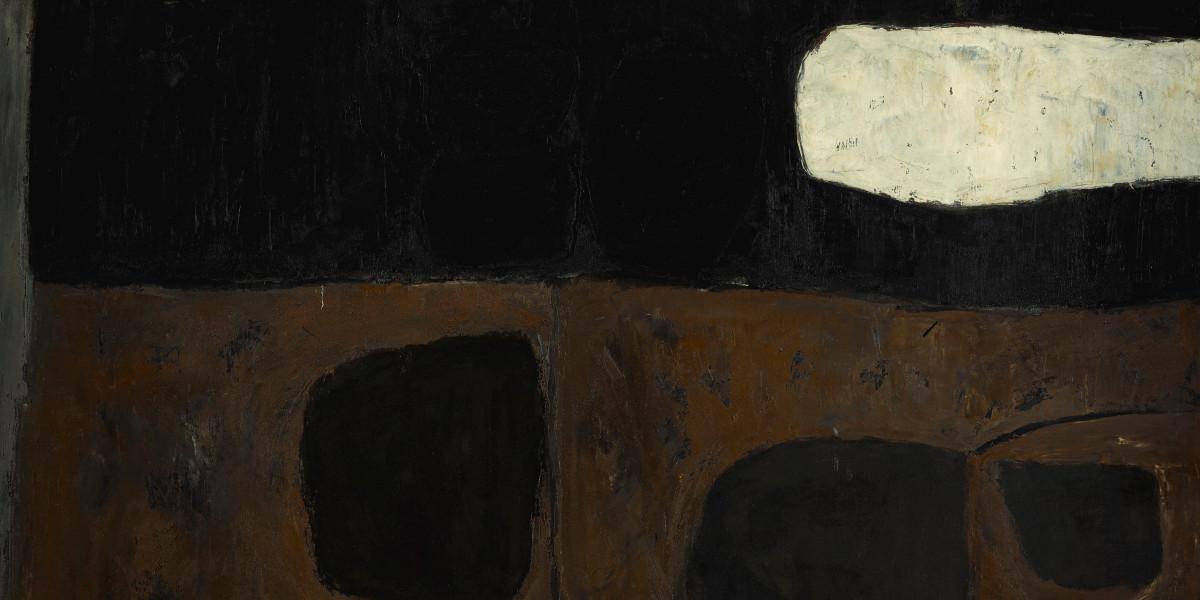 William Scott - Black BrownAnd White, 1958 (detail)