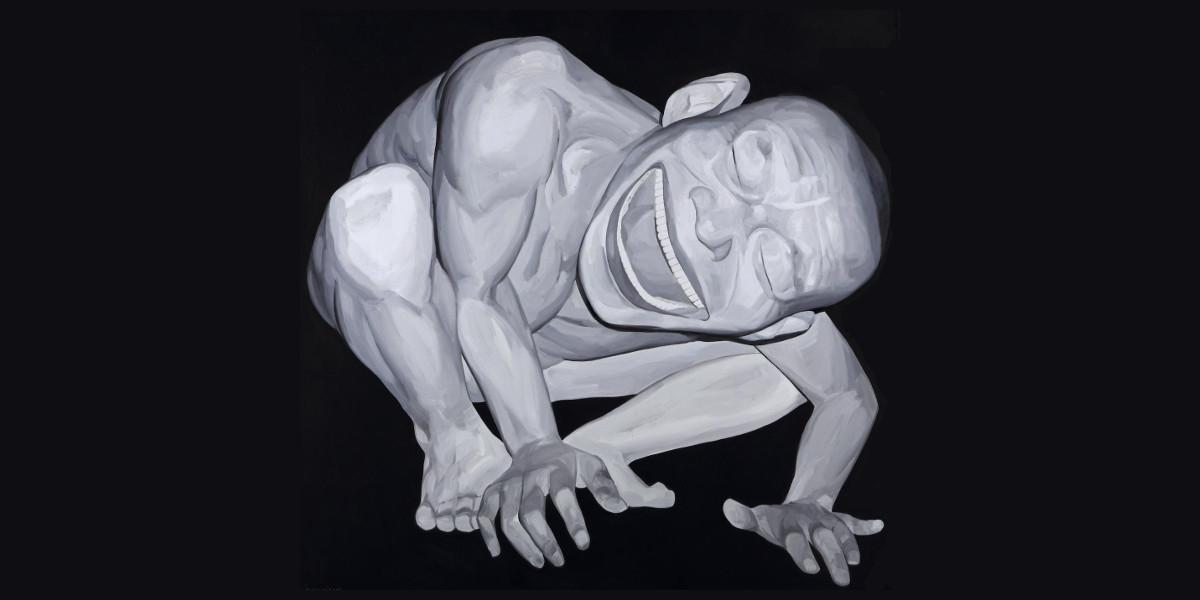 Yue Minjun - Untitled, 2002 (detail)